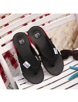 Men's Slippers & Flip-Flops Comfort PU Summer Casual Comfort Gray Black White Flat