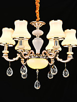 Pendant Light Zinc Alloy Feature for Crystal Mini Style Metal Indoors Bedroom Dining Room 6 Bulbs