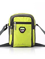 Unisex Shoulder Bag Polyester All Seasons Sports Outdoor Messenger Zipper Lake blue Purple Black Green