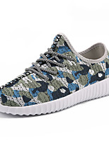 Men's Sneakers Light Soles Tulle Spring Summer Athletic Casual Outdoor Light Soles Flat Heel Black Army Green Blue Flat