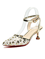 Women's Heels PU Spring Summer Fall Stiletto Heel Gold Black Blushing Pink 1in-1 3/4in