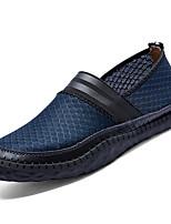 Herren Loafers & Slip-Ons PU Frühling Sommer Niedriger Absatz Grau Blau Khaki Unter 2,5 cm