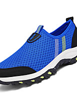 Masculino Mocassins e Slip-Ons Conforto Tule Verão Casual Caminhada Conforto Combinação Rasteiro Azul Marinho Azul Real 5 a 7 cm
