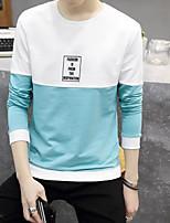 Sweatshirt Homme Quotidien Lettre Col Arrondi Micro-élastique Coton Manches longues Printemps