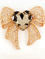 Women's Girls' Brooches Bow Crystal Alloy Bowknot Jewelry For Wedding Party Special Occasion Casual