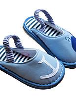 Fille Ballerines Premières Chaussures Coton Tissu Printemps Automne Décontracté Marche Premières Chaussures Scotch Magique Talon BasBeige