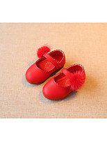 Girls' Sandals First Walkers Real Leather Spring Fall Casual Walking First Walkers Magic Tape Low Heel Ruby Flat