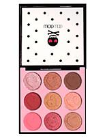 9 Paleta de Sombras Secos Mate Brilho Paleta da sombra Maquiagem para o Dia A Dia Maquiagem Esfumada