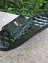 Masculino Chinelos e flip-flops Conforto Couro Ecológico Verão Casual Conforto Verde Azul Rasteiro