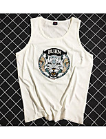Women's Other Daily Cute Summer Tank Top,Solid Round Neck Sleeveless Cotton Medium