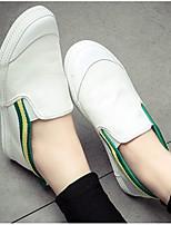 Dámské Nokasíny Pohodlné Plátno Jaro Ležérní Pohodlné Černá Bílá/modrá bílá a zelená Plochý