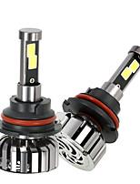 Kkmoon пара 9007 hb5 dc 12v 40w 4000lm 6000k светодиодная лампа комплект ламп накаливания