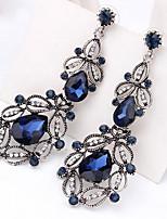 Drop Earrings Women's Girls' Euramerican Elegant Luxury Hollow out Rhinestone Droplets Movie Jewelry Party Daily Business