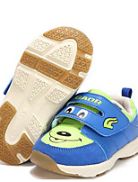 Boys' Flats First Walkers Synthetic Spring Fall Casual Walking First Walkers Magic Tape Low Heel Blue Yellow Orange Flat