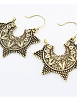 Bohemian Fashion Vintage Chrome Personalized Star Earrings Women's Daily Drop Earrings Statement Jewelry