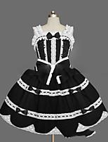 Un Pezzo/Vestiti Gotico Lolita Cosplay Vestiti Lolita Vintage Ad aletta Senza maniche Corto / Mini Abito Per