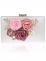 L.WEST Women's fashion cute flowers pearl Dinner Bag
