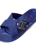 Men's Slippers & Flip-Flops Comfort PP (Polypropylene) Spring Casual Black Navy Blue Flat