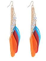 Drop Earrings Women's Girls' Euramerican Personalized Bohemian Friendship Feather Tassel  Movie Jewelry Party Daily Casual Stud Earrings