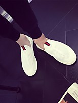 Men's Sneakers Comfort PU Tulle Summer Casual Comfort Black White Flat