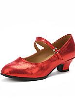Customizable Women's Modern Leatherette Heels Indoor Customized Heel Ruby Silver Black Gold 1