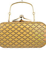 L.WEST Woman Fashion Luxury High-grade Laser Diamonds Scales Evening Bag