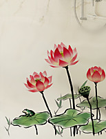 Window Film Window Decals Style Lotus Dull Polish PVC Window Film - (60 x 58)cm