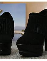 Для женщин Обувь на каблуках Удобная обувь Натуральная кожа Лето Повседневные Удобная обувь Черный Красный Более 12 см