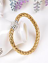 Femme Bracelets en cuir Mode Forme de Cercle Bijoux Pour Mariage Soirée Anniversaire Fête/Soirée Quotidien