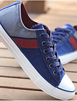 Men's Sneakers Comfort Canvas Spring Daily Ruby Blue Khaki Flat