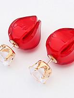 Boucles d'oreille goujon Boucles d'oreille goutte Boucles d'oreille gitane Imitation de diamantBasique Original Logo A Fleurs Amitié