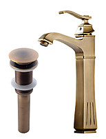 Antique CentersetCeramic Valve Single Handle One Hole for  Antique Copper , Bathroom Sink Faucet