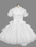 Une Pièce/Robes Doux Lolita Cosplay Vêtrements Lolita Rétro Mancheron Manches Courtes Court / Mini Robe Pour Autre