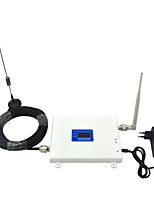 LCD Display DCS 1800mhz CDMA 850mhz Mobile Phone Signal Booster Signal Amplifier with Omni Antenna / Sucker Antenna / Dual Band / White