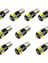 10pcs h6w bax9s canbus 8smd 5730 décodage indicateur lampe lampe lumière de lecture dc12v blanc