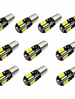 10pcs h6w bax9s canbus 8smd 5730 декодирует индикатор свет лампа свет чтения dc12v белый