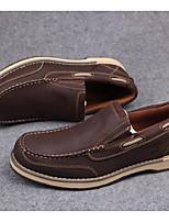 Men's Sneakers Comfort Cowhide Spring Daily Coffee Brown Flat