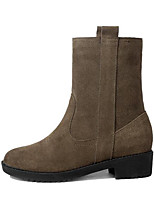Women's Boots Comfort Nubuck leather PU Suede Spring Casual Comfort Army Green Black Flat
