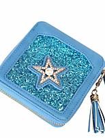 Women's wallet sequins tassel small purse diamond-encrusted pentagonal heart fashion zero wallet pearl card package
