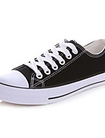 Men's Sneakers Comfort Tulle Spring Casual White Black Flat