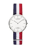 Женские Модные часы Кварцевый Секундомер Нержавеющая сталь Нейлон Группа Разноцветный