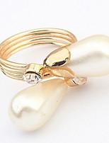 Bandringe Ring Stulpring Imitierte Perlen Imitation DiamantBasis Einzigartiges Design Logo Stil Zum Selbermachen Viktorianisch Schmuck
