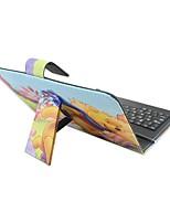 Ipad case с клавиатурой usb английская версия 7-8 дюймовый универсальный мультфильм pu кожаный чехол для ipad mini123 mini4