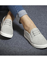 Men's Sneakers Canvas Spring White Black Gray Flat
