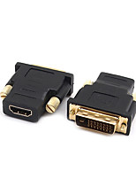 DVI Adapter, DVI to HDMI 1.4 HDMI 2.0 Adapter Male - Female 720P Gold-plated copper