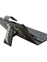 Ipad caso com teclado usb versão inglesa 7-8 polegadas universal palavra / frase cartoont pu couro caso para ipad mini123 mini4