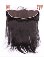 7A Silk Straight Brazilian Human 13x2 Silk Full Lace Frontal Closure Ear to Ear