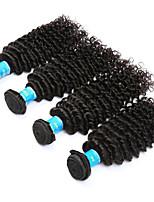 Tissages de cheveux humains Cheveux Birmans Ondulation profonde 12 mois 4 Pièces tissages de cheveux