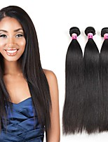 Tissages de cheveux humains Cheveux Brésiliens Droit 1 An 3 Pièces tissages de cheveux