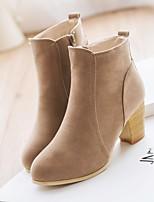 Women's Heels Comfort PU Spring Casual Red Black Flat